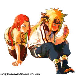 Minato and Kushina by fvckfdaname