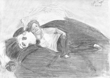 Self Portrait With Panda by fleurdevereux