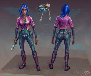 Zoe the Spaceship Engineer Concept by IonfluxDA