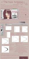 Hair + basic pen tool tutorial by Cyber-Shady