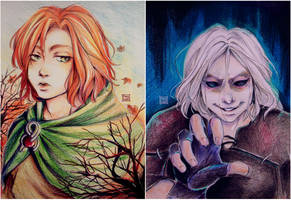 C - CinderChandrian - Kvothe and Cinder by Pam-bOo