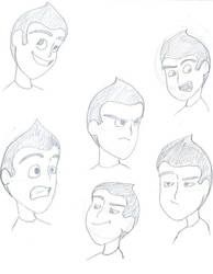 Wilbur facial sketches by Meet-The-Robinsons