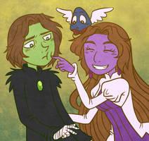 Warrick and Selva by Liralicia