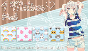 Pack 4 Motivos Cute by ZounDNoiZe