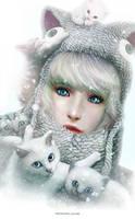 Fluffy Winter by nell-fallcard