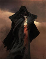 Darth Vader - Concept Art Redesign Beksinski style by nell-fallcard