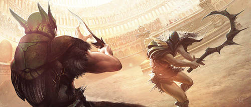 Insect Gladiators by nell-fallcard