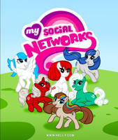 My Social Networks - My Little Pony Parody by nell-fallcard