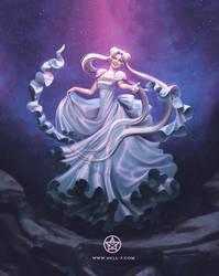 Princess Serenity - Sailor Moon Fan Art by nell-fallcard