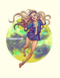 Hippie Girl by nell-fallcard