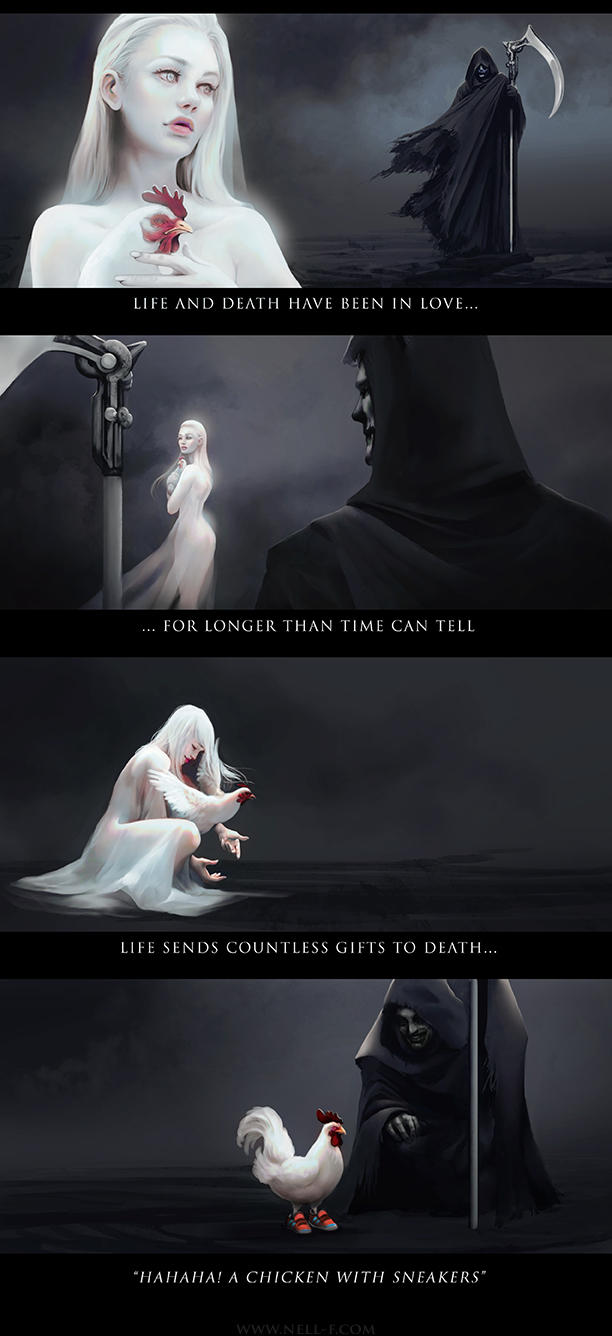 Life and Death by nell-fallcard