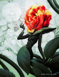 Alice in Wonderland - Rose by nell-fallcard