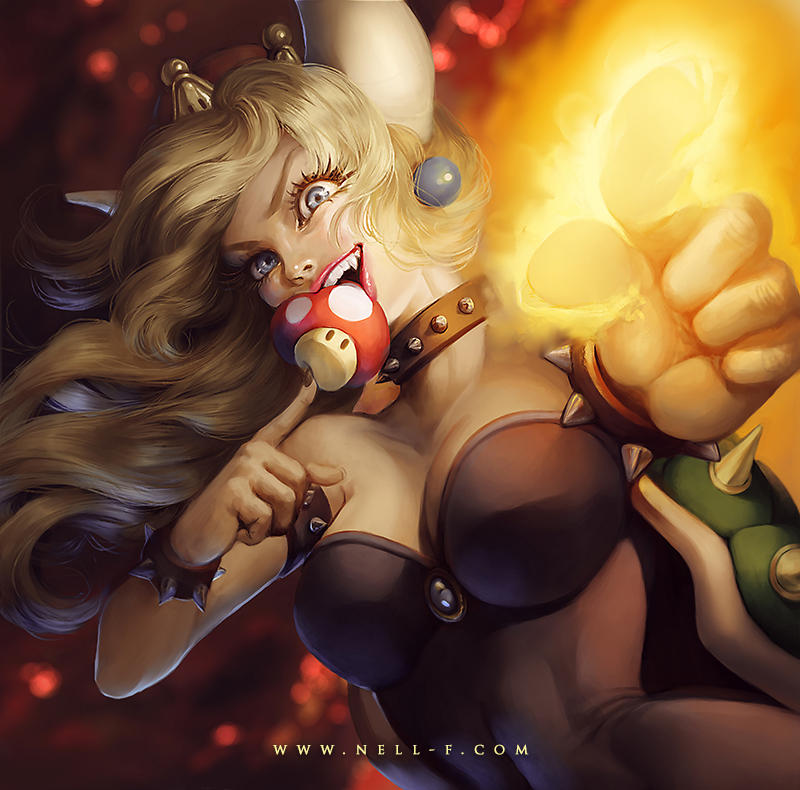 Bowsette Fan Art by nell-fallcard