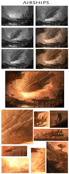 Airships Process by AlexRuizArt