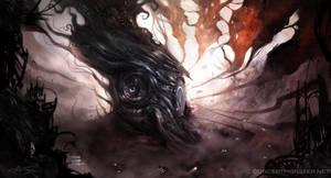 Eye Fortress Race by AlexRuizArt