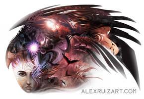 Falcon Spirit by AlexRuizArt
