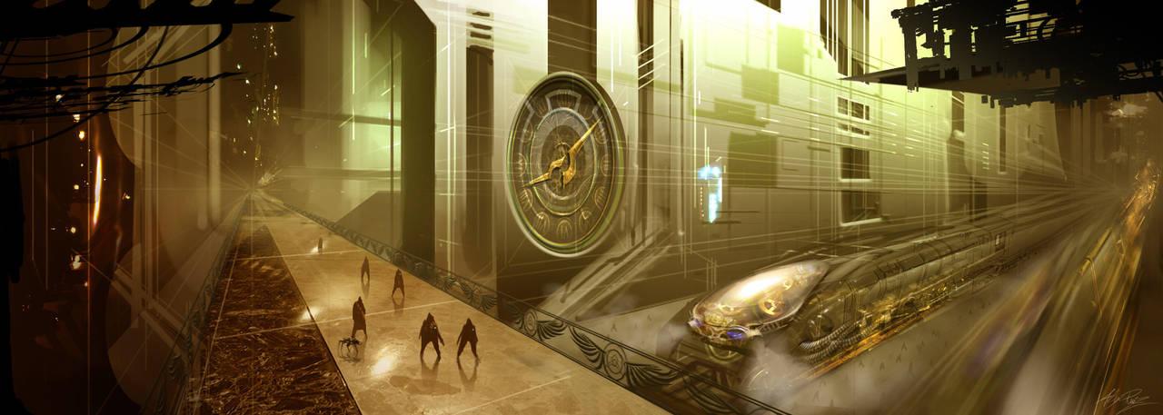 Steampunk Train by AlexRuizArt