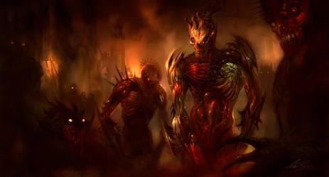 Zombie Mechs by AlexRuizArt