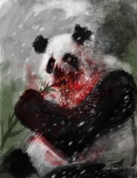 Zombie Panda by AlexRuizArt