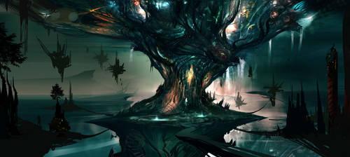 Tree of Life 2 WIP by AlexRuizArt