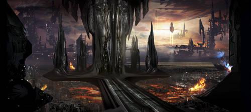 Alien City WIP by AlexRuizArt