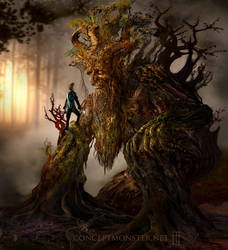 Treeman and Boy by AlexRuizArt