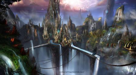 Fantasy Environment 1 by AlexRuizArt