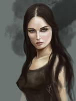 Female Portrait Study by AlexRuizArt