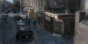 Street Scene study by AlexRuizArt