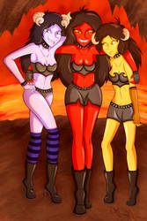 Demoness Triplets by gagaman92