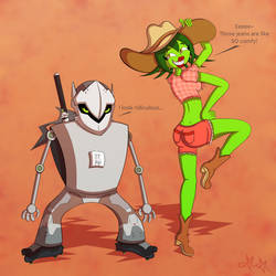 Genjack and Thorns of Hazzard by gagaman92