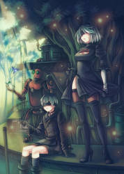 Nier Automata: Pascal's Village by Snow-the-Wanderer