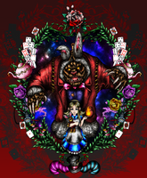 Annie in Wonderland [Commission] by KwnBlack