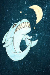Moon Shark By Bunnykissd On Deviantart