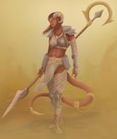 Tiefling Warrior by JosueVilela