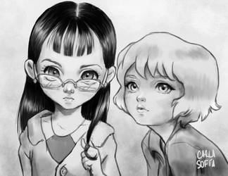 Dos chicas by Carlasofiarc
