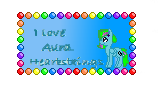 I Love Aura stamp by AuraStrike110