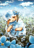 Forget-me-not-sheep by Diaris