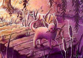 Espeon's dawn by Diaris
