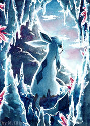 Ice Cave Glaceon by Diaris