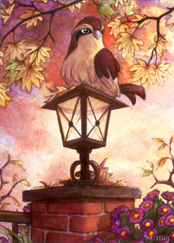 Indian Summer with Pidgey by Diaris