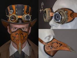 Steampunk/Wild West Plague Doctor by Aeronaut9k