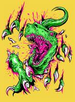 T.Rex Attack by RavenGC