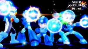 Super Smash Bros. 4 - Mega Man Generations by Legend-tony980
