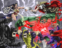 Marvel Vs DC by DanielRoper