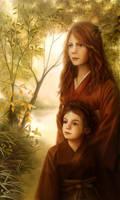 Erina and Reiya Carter by Aliciane