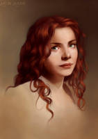 Rachel Hurd Wood - Portrait Practice by Aliciane