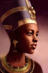 Nefertiti, Queen of Egypt by Aliciane