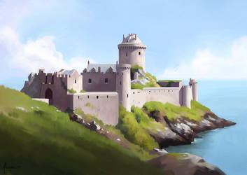 Fort la Latte - Landscape Study by Aliciane