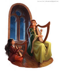 [Morgan le Fay] Harp Lessons by Aliciane
